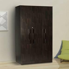 Nayeli 3 door Wardrobe (Melamine Finish, Wenge) by Urban Ladder - Cross View Design 1 - 372223