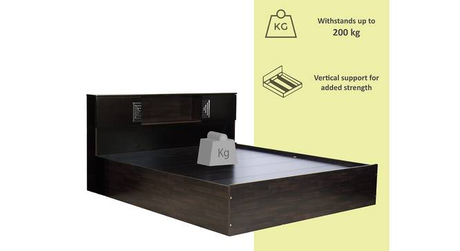 Porto Storage Bed (Queen Bed Size, Melamine Finish) by Urban Ladder - Front View Design 1 - 372230