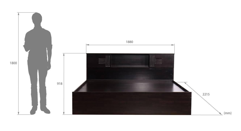 Nivelles storage bed wenge color melamine finish 6