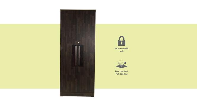 Stevie 2 door Wardrobe (Melamine Finish, Wenge) by Urban Ladder - Front View Design 1 - 372309