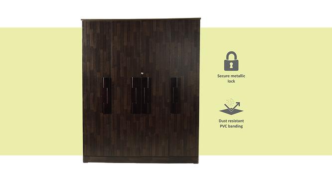 Serena 4 door Wardrobe (Melamine Finish, Wenge) by Urban Ladder - Front View Design 1 - 372311