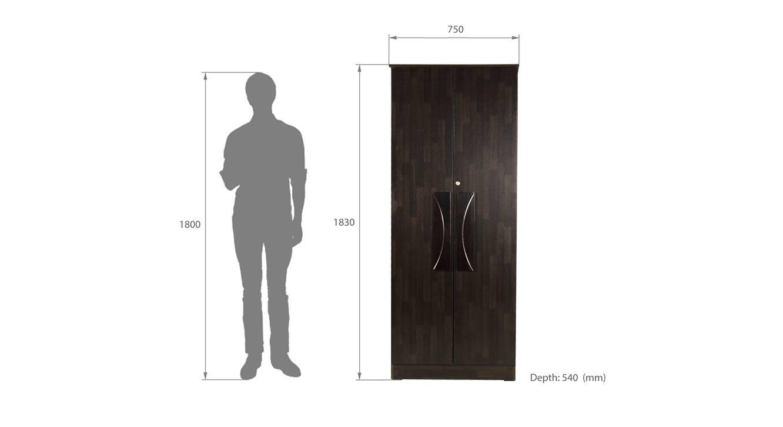 Selah 2 door wardrobe wenge color melamine finish 6