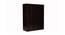 Trisha 4 door Wardrobe (Melamine Finish, Wenge) by Urban Ladder - Design 1 Close View - 372407