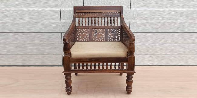 Ishir Wooden Sofa -Natural (1-seater Custom Set - Sofas, None Standard Set - Sofas, Natural, Regular Sofa Size, Regular Sofa Type, Solid_Wood Sofa Material)
