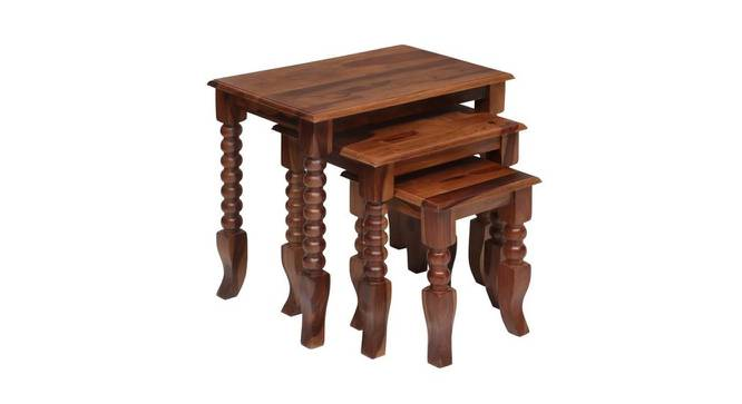 Marquis Side Table (Walnut, Semi Gloss Finish) by Urban Ladder - Cross View Design 1 - 372474