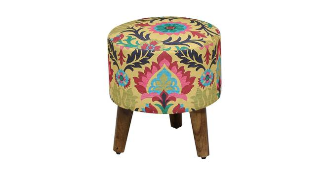 Antonette Side Table (Semi Gloss Finish, Fabric) by Urban Ladder - Front View Design 1 - 372489