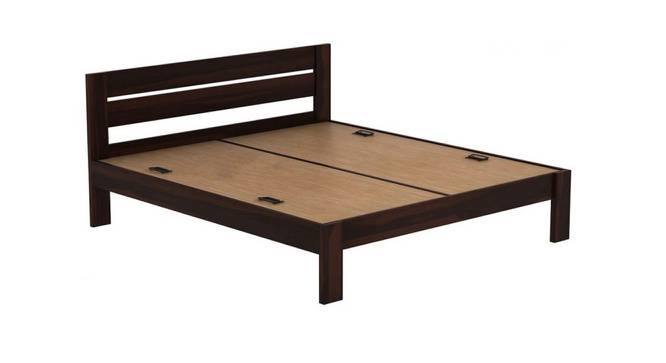 Montel Non-Storage Bed (King Bed Size, Semi Gloss Finish, Rustic Teak) by Urban Ladder - Rear View Design 1 - 372505