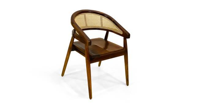 Sullivan Dining Chair (Semi Gloss Finish, Honey Walnut) by Urban Ladder - Cross View Design 1 - 372543