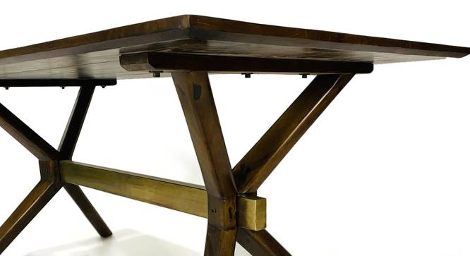 Raiden Dining Table (Natural, Semi Gloss Finish) by Urban Ladder - Cross View Design 1 - 372548