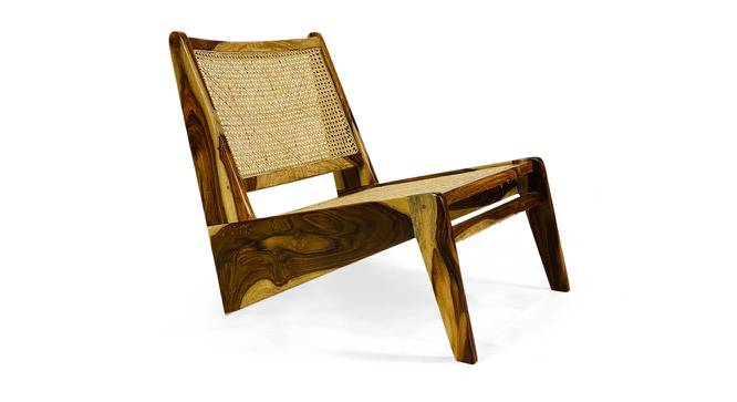 Solomon Lounge Chair (Natural, Semi Gloss Finish) by Urban Ladder - Cross View Design 1 - 372551