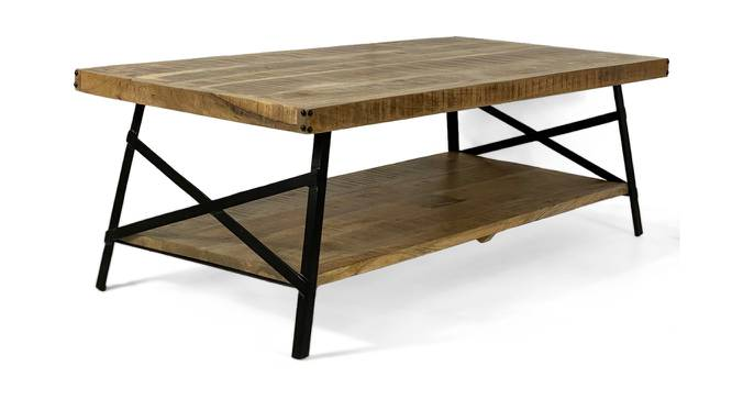 Jaiden Coffee Table (Natural Finish, Natural) by Urban Ladder - Front View Design 1 - 372555