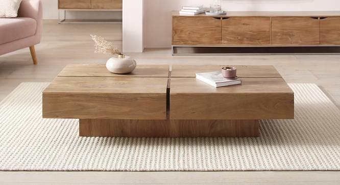 Attrium Coffee Table (Natural, Semi Gloss Finish) by Urban Ladder - Cross View Design 1 - 372599