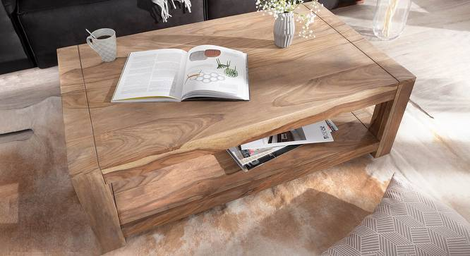 Quincy Coffee Table (Natural, Semi Gloss Finish) by Urban Ladder - Cross View Design 1 - 372602