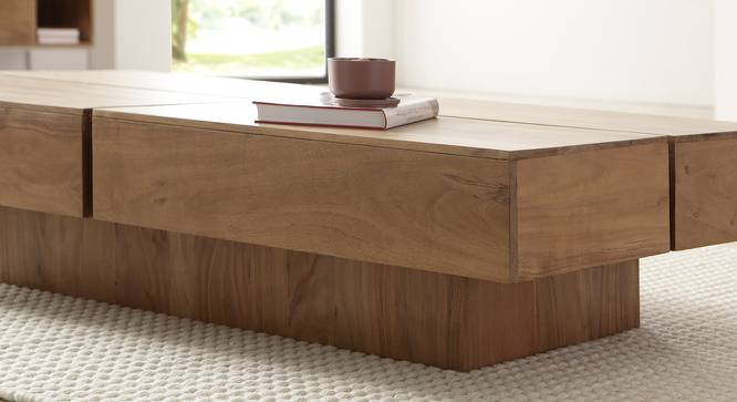 Attrium Coffee Table (Natural, Semi Gloss Finish) by Urban Ladder - Front View Design 1 - 372606