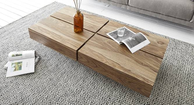 Bilbo Coffee Table (Natural, Semi Gloss Finish) by Urban Ladder - Front View Design 1 - 372607