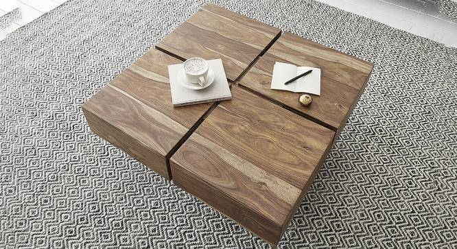 Bartholomew Coffee Table (Natural, Semi Gloss Finish) by Urban Ladder - Front View Design 1 - 372608