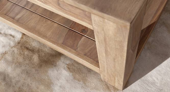 Quincy Coffee Table (Natural, Semi Gloss Finish) by Urban Ladder - Front View Design 1 - 372609