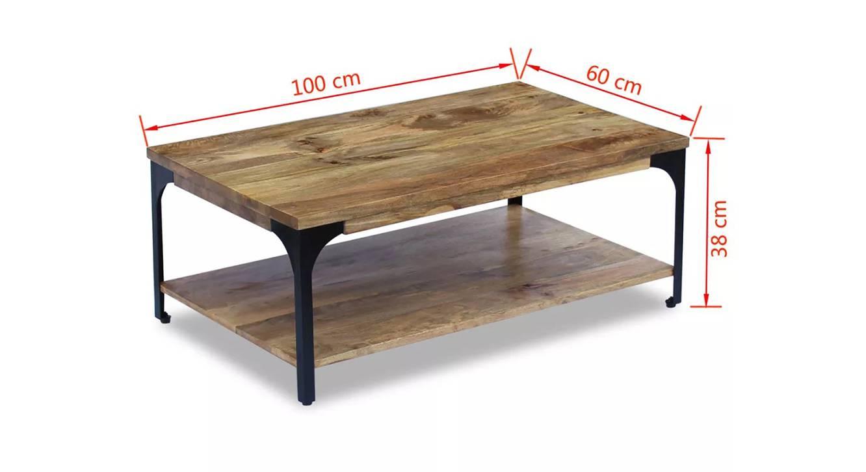Cassandra coffee table natural color semi gloss finish 6