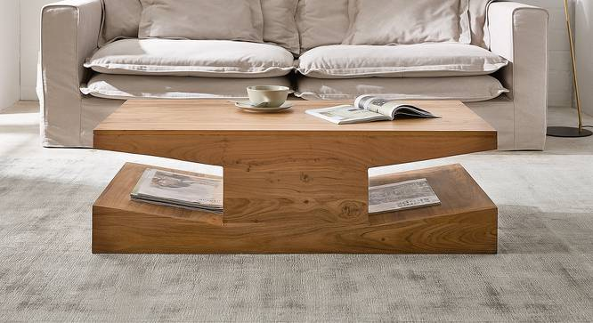 Charlie Coffee Table (Natural, Semi Gloss Finish) by Urban Ladder - Cross View Design 1 - 372647