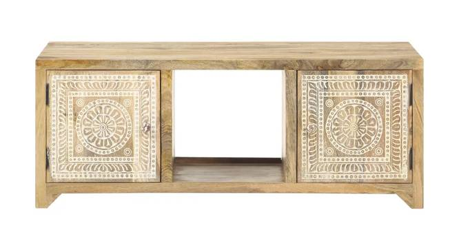 Jessica Coffee Table (Natural, Semi Gloss Finish) by Urban Ladder - Front View Design 1 - 372653