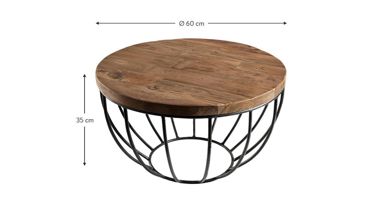Lois coffee table rustic teak color semi gloss finish 6