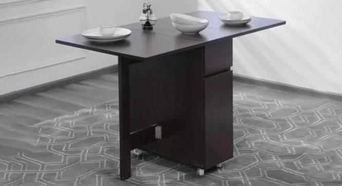 Samira Dining Table (Laminate Finish, Walnut) by Urban Ladder - Cross View Design 1 - 372707