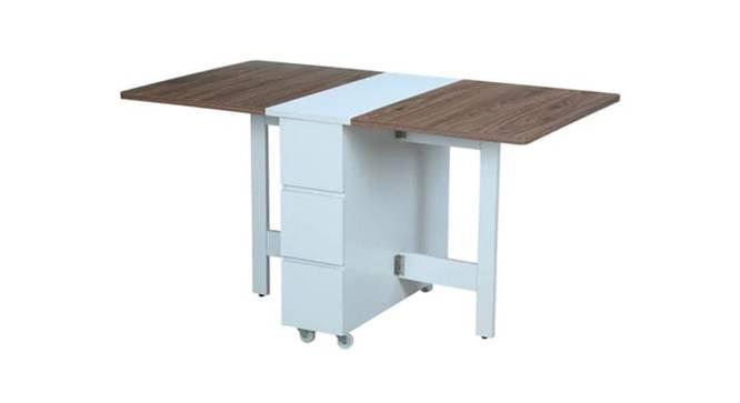 Jenesis Dining Table (White, Laminate Finish) by Urban Ladder - Cross View Design 1 - 372709