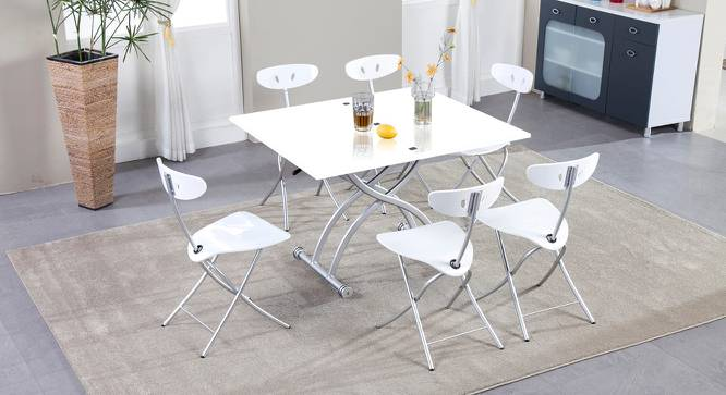 Lauressa Hydraulic Table (White, Laminate Finish) by Urban Ladder - Cross View Design 1 - 372715