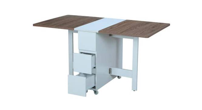 Jenesis Dining Table (White, Laminate Finish) by Urban Ladder - Front View Design 1 - 372718
