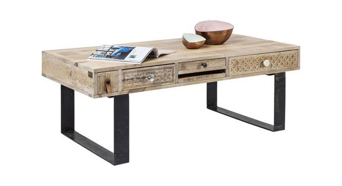 Reed Coffee Table (Natural, Semi Gloss Finish) by Urban Ladder - Front View Design 1 - 372749