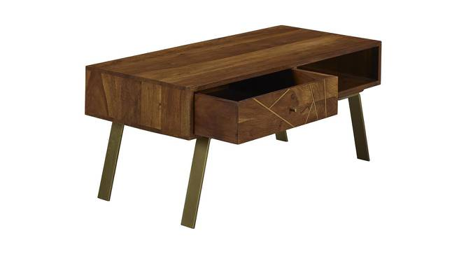 Pamela Coffee Table (Semi Gloss Finish, PROVINCIAL TEAK) by Urban Ladder - Front View Design 1 - 372757