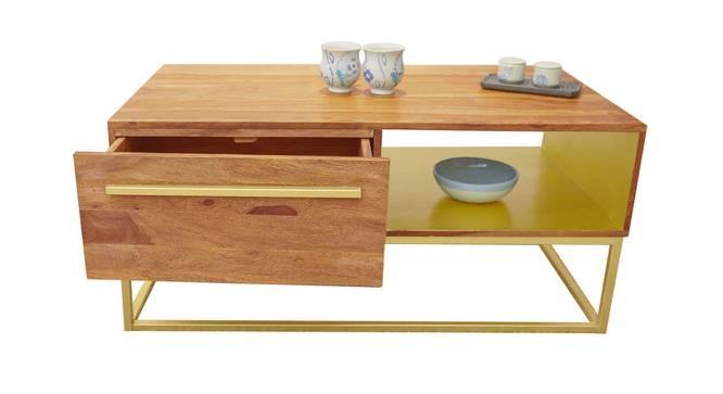 Veronica Coffee Table (Semi Gloss Finish, Rustic Teak) by Urban Ladder - Cross View Design 1 - 372807