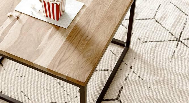 Wanda Coffee Table (Semi Gloss Finish, Rustic Teak) by Urban Ladder - Cross View Design 1 - 372808