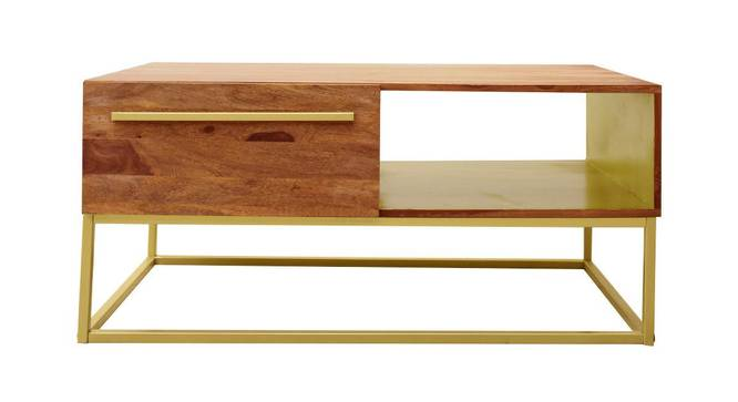 Veronica Coffee Table (Semi Gloss Finish, Rustic Teak) by Urban Ladder - Front View Design 1 - 372814