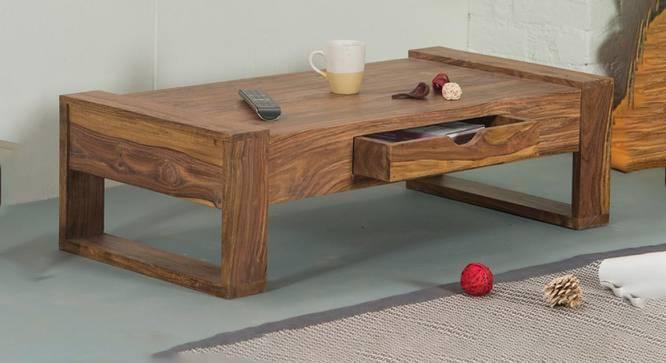 Paxton Coffee Table (Semi Gloss Finish, PROVINCIAL TEAK) by Urban Ladder - Half View Design 1 -