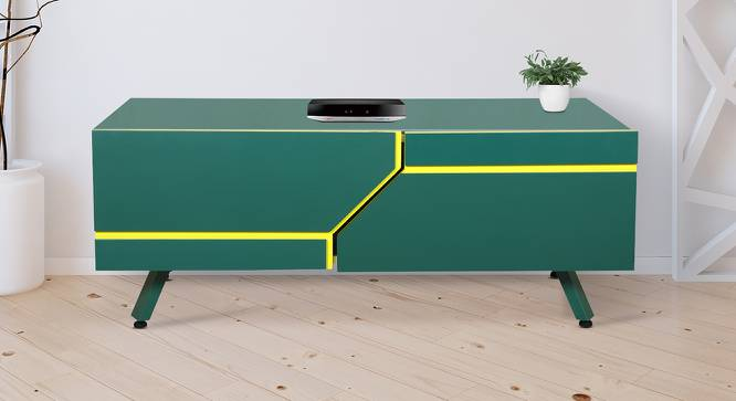 Ponce Coffee Table (Green, Green Finish) by Urban Ladder - Cross View Design 1 - 372851