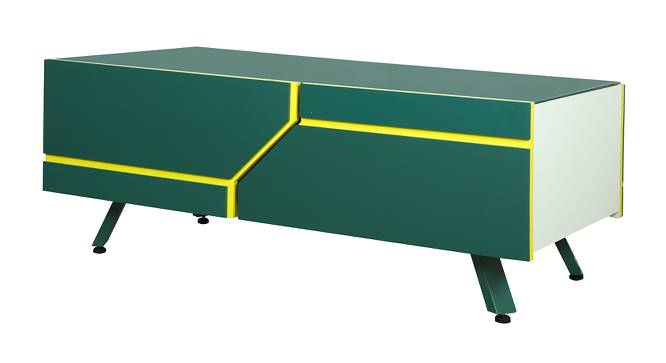 Ponce Coffee Table (Green, Green Finish) by Urban Ladder - Front View Design 1 - 372862