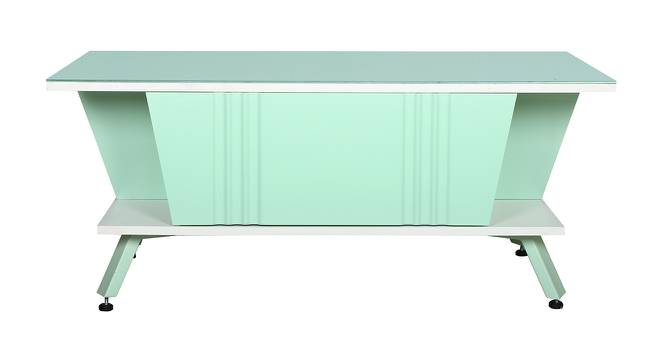 Freya Coffee Table (Green & White Finish, Green & White) by Urban Ladder - Front View Design 1 - 372865