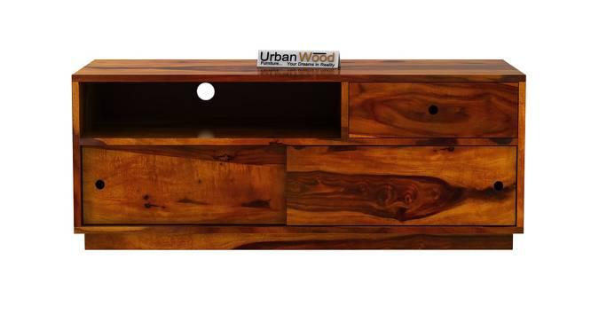 Anvil TV Unit (HONEY, Matte Finish) by Urban Ladder - Front View Design 1 - 372945
