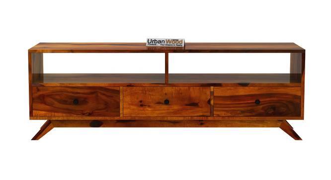 Bia TV Unit (HONEY, Matte Finish) by Urban Ladder - Front View Design 1 - 372948