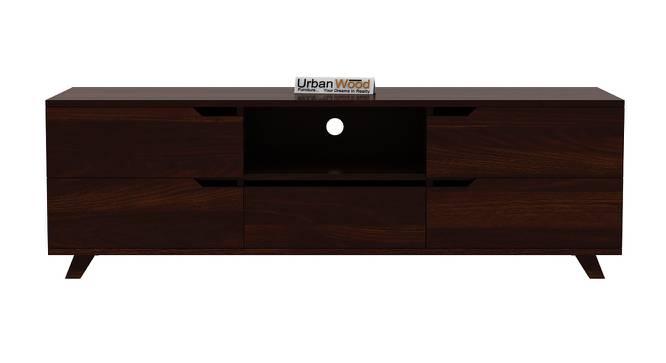 Binny TV Unit (Walnut, Matte Finish) by Urban Ladder - Front View Design 1 - 372953