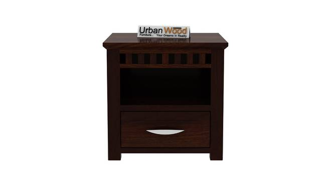 Cormac Bedside Table (Walnut) by Urban Ladder - Front View Design 1 - 373033