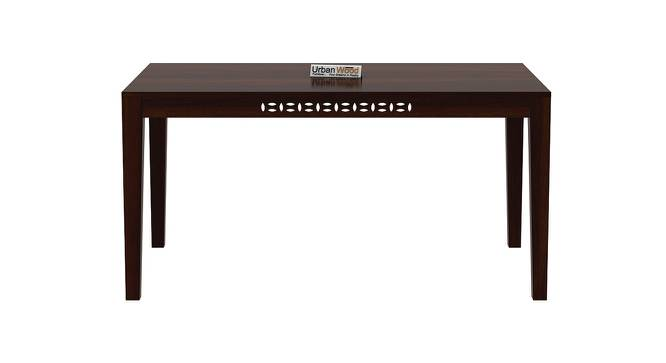Conner Dining Table (Walnut, Matte Finish) by Urban Ladder - Front View Design 1 - 373042