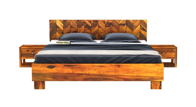 Briana Bed (King Bed Size, HONEY, Matte Finish) by Urban Ladder - Front View Design 1 - 373043