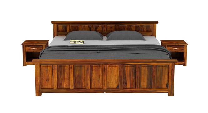 Chris Storage Bed (King Bed Size, Matte Finish) by Urban Ladder - Front View Design 1 - 373047