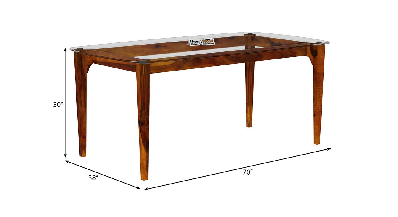Briggs dining table honey finish color matte finish 6