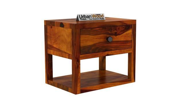 Elvis Bedside Table (HONEY) by Urban Ladder - Cross View Design 1 - 373106
