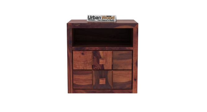 Cosette Bedside Table (Teak) by Urban Ladder - Front View Design 1 - 373131