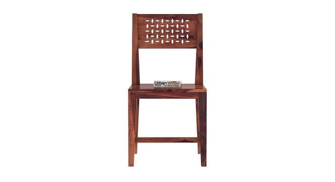 Damon Dining Chair (Teak, Matte Finish) by Urban Ladder - Front View Design 1 - 373143