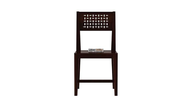 Damon Dining Chair (Walnut, Matte Finish) by Urban Ladder - Front View Design 1 - 373144